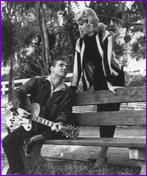 Sharon Sheeley and Eddie Cochran